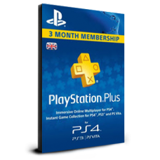 PlayStation Plus 3 Months UK