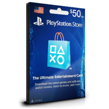 PlayStation Card $50 USA